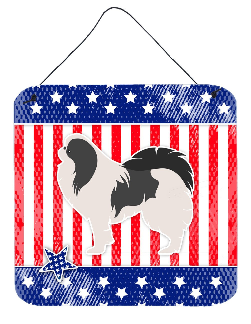 USA Patriotic Japanese Chin Wall or Door Hanging Prints BB3337DS66 by Caroline's Treasures