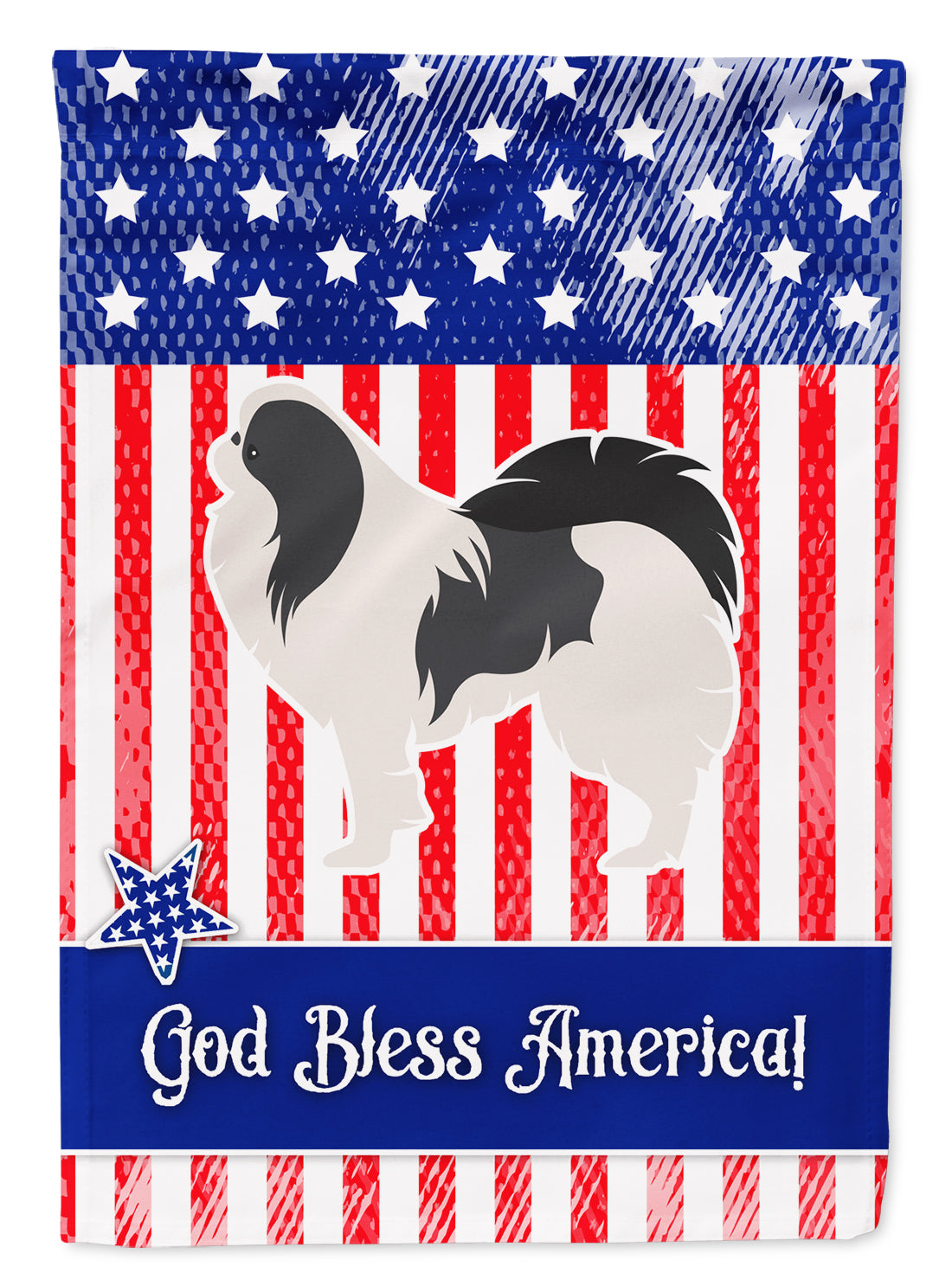 USA Patriotic Japanese Chin Flag Garden Size BB3337GF by Caroline's Treasures