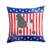 USA Patriotic Poodle Fabric Decorative Pillow BB3339PW1414 by Caroline's Treasures