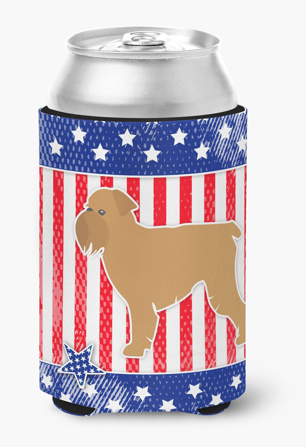 USA Patriotic Brussels Griffon Can or Bottle Hugger BB3340CC by Caroline's Treasures