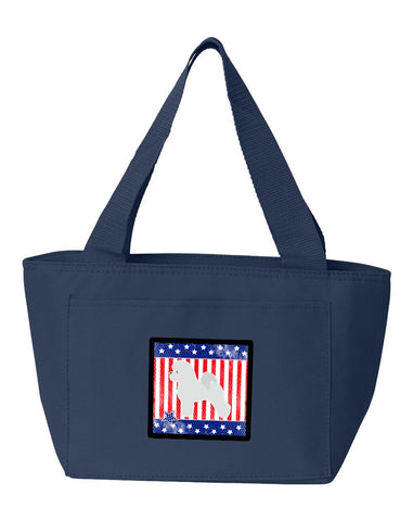 Buy this USA Patriotic Bichon Frise Lunch Bag BB3345NA-8808