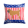 USA Patriotic Pug Fabric Decorative Pillow BB3347PW1414 by Caroline's Treasures