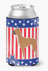 USA Patriotic Boxer Can or Bottle Hugger BB3353CC by Caroline's Treasures