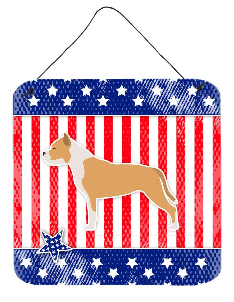 Buy this USA Patriotic Staffordshire Bull Terrier Wall or Door Hanging Prints BB3354DS66