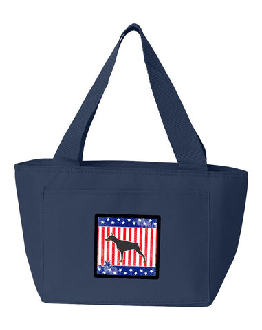 Buy this USA Patriotic Doberman Pinscher Lunch Bag BB3360NA-8808