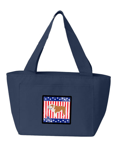 Buy this USA Patriotic English Bulldog Lunch Bag BB3362NA-8808