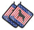 USA Patriotic Rottweiler Pair of Pot Holders BB3366PTHD by Caroline's Treasures