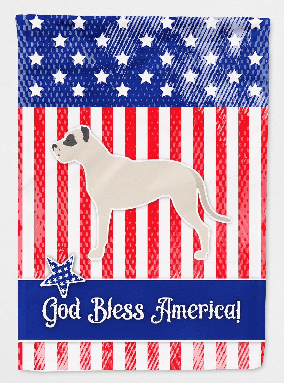 USA Patriotic Dogo Argentino Flag Canvas House Size BB3367CHF by Caroline's Treasures