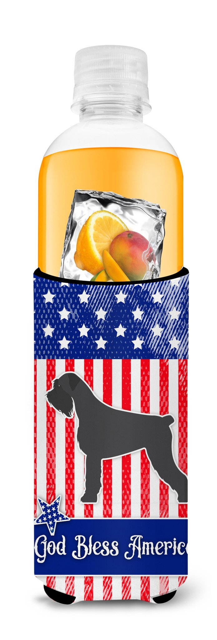 USA Patriotic Giant Schnauzer Michelob Ultra Hugger for slim cans BB3373MUK by Caroline's Treasures