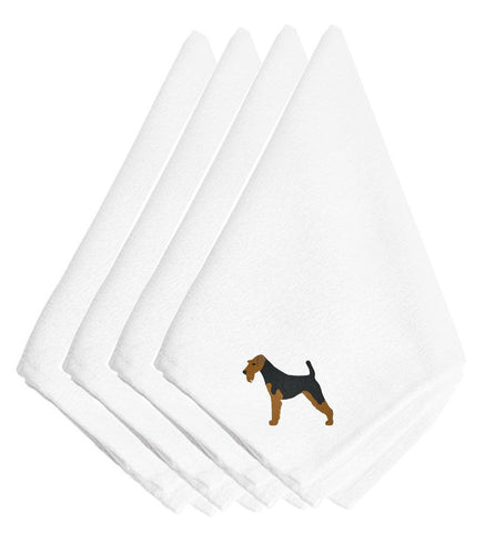 Buy this Welsh Terrier Embroidered Napkins Set of 4 BB3385NPKE