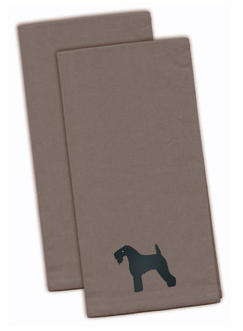 Buy this Kerry Blue Terrier Gray Embroidered Kitchen Towel Set of 2 BB3392GYTWE