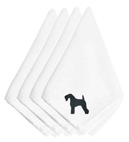 Buy this Kerry Blue Terrier Embroidered Napkins Set of 4 BB3392NPKE