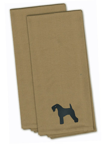 Buy this Kerry Blue Terrier Tan Embroidered Kitchen Towel Set of 2 BB3392TNTWE