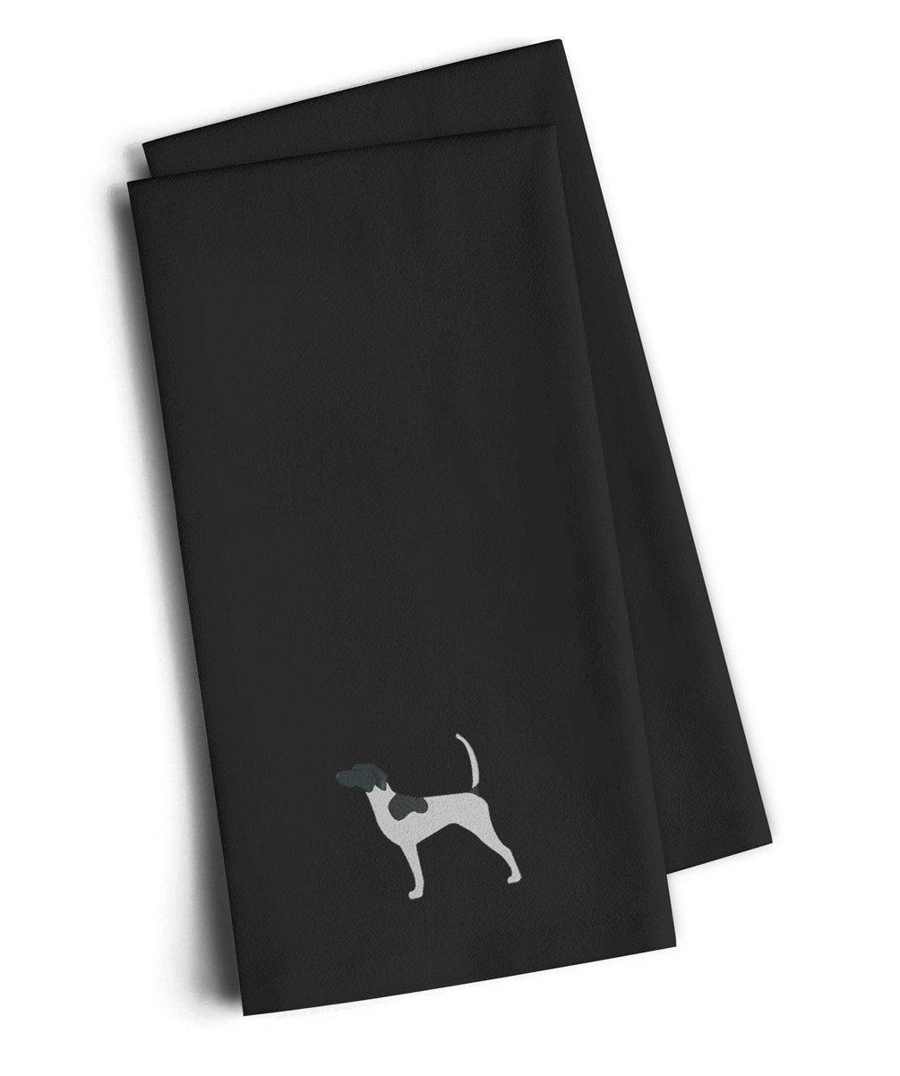 English Pointer Black Embroidered Kitchen Towel Set of 2 BB3395BKTWE by Caroline's Treasures