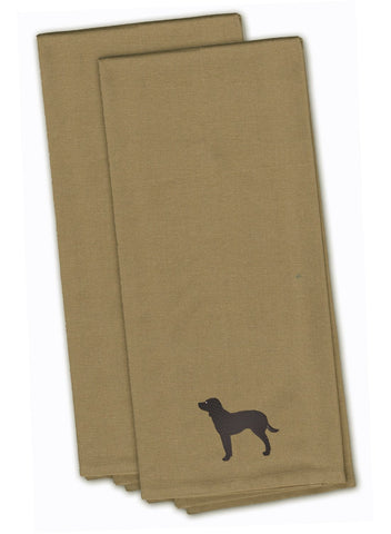 Buy this American Water Spaniel Tan Embroidered Kitchen Towel Set of 2 BB3401TNTWE
