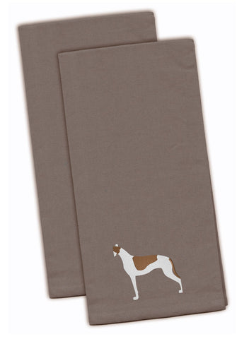 Buy this Greyhound Gray Embroidered Kitchen Towel Set of 2 BB3405GYTWE
