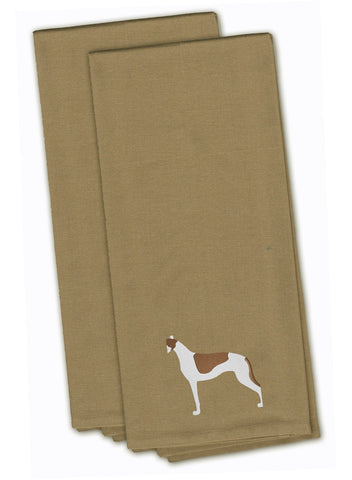 Buy this Greyhound Tan Embroidered Kitchen Towel Set of 2 BB3405TNTWE