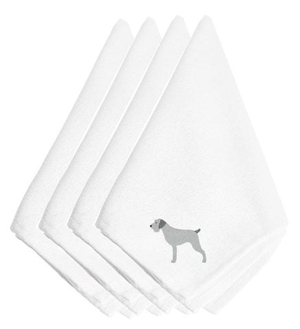 Buy this German Wirehaired Pointer Embroidered Napkins Set of 4 BB3411NPKE