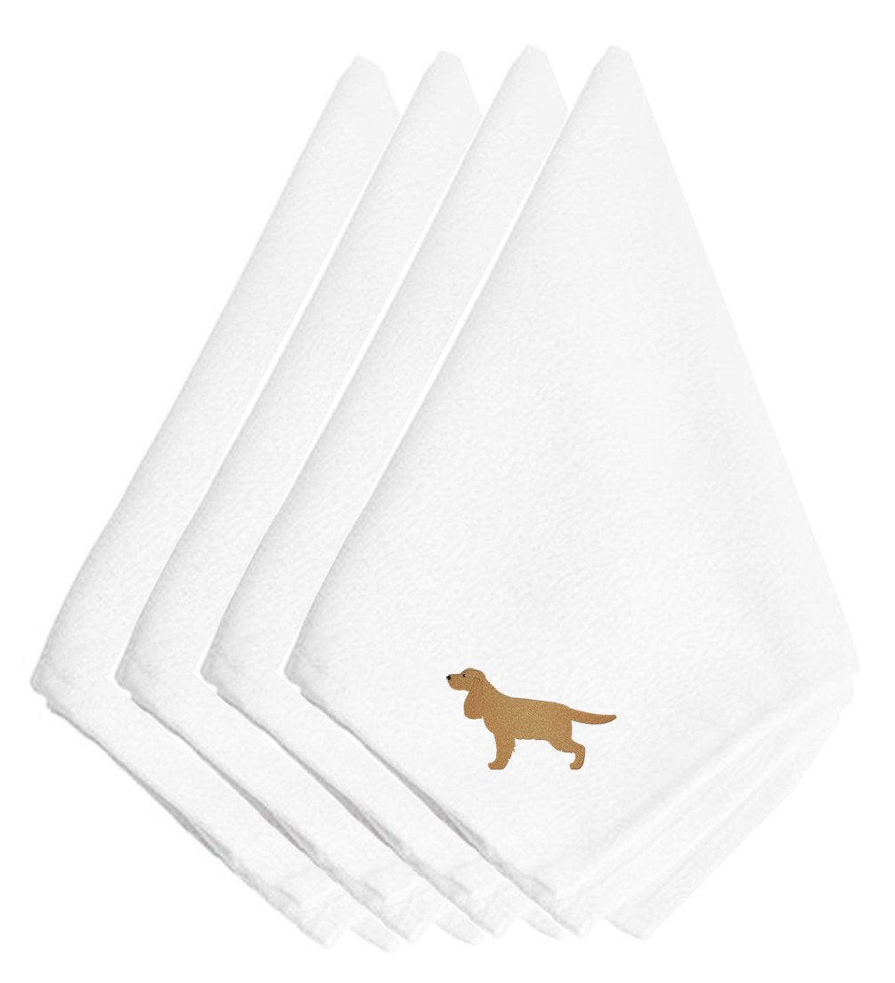 English Cocker Spaniel Embroidered Napkins Set of 4 BB3412NPKE by Caroline's Treasures