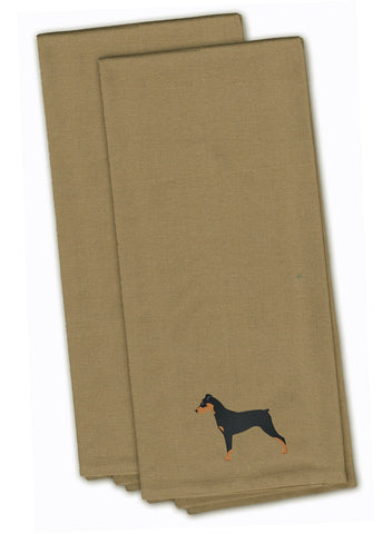 Buy this German Pinscher Tan Embroidered Kitchen Towel Set of 2 BB3413TNTWE