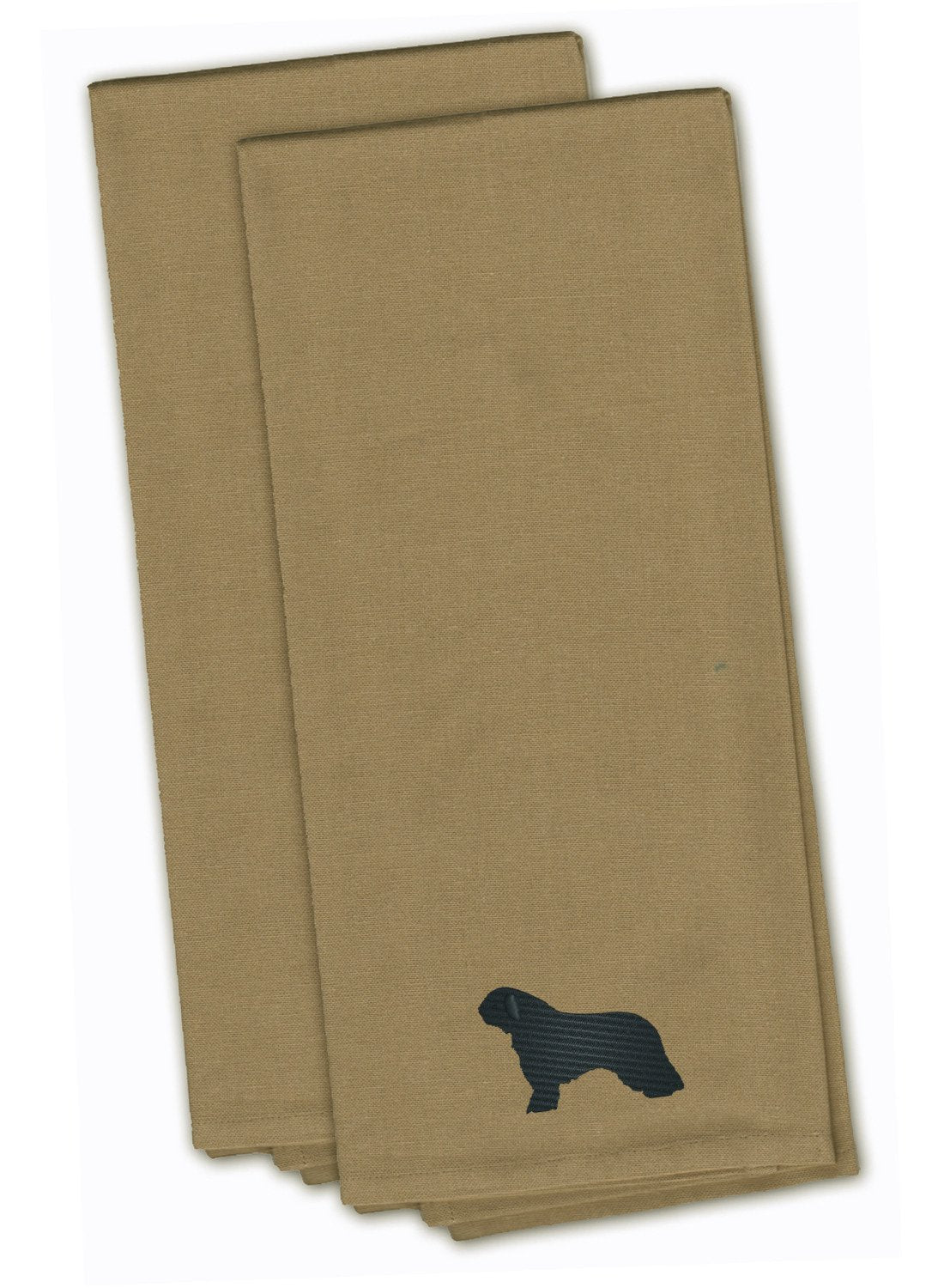 Spanish Water Dog Tan Embroidered Kitchen Towel Set of 2 BB3415TNTWE by Caroline's Treasures