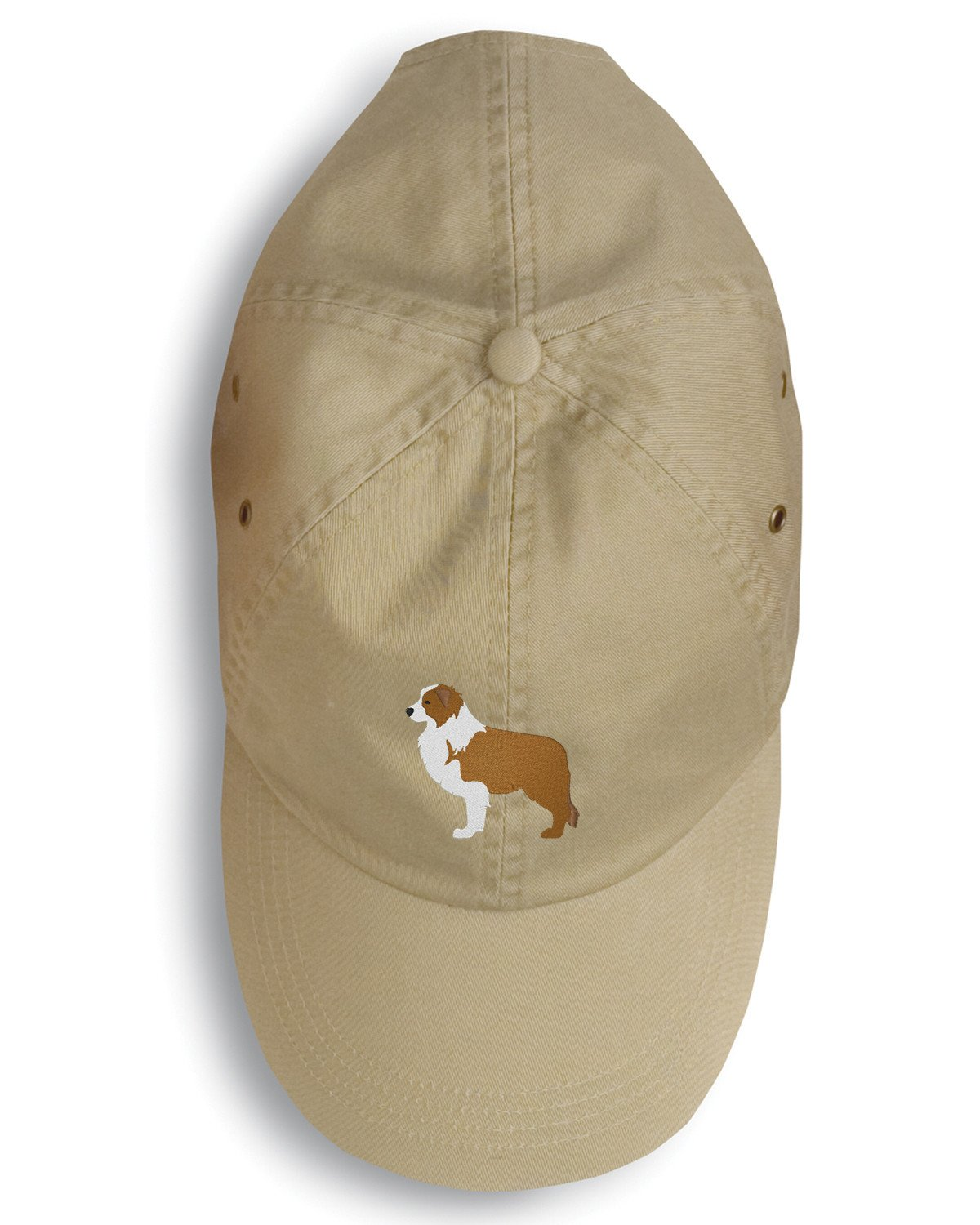 Red Border Collie Embroidered Baseball Cap BB3422BU-156 by Caroline's Treasures