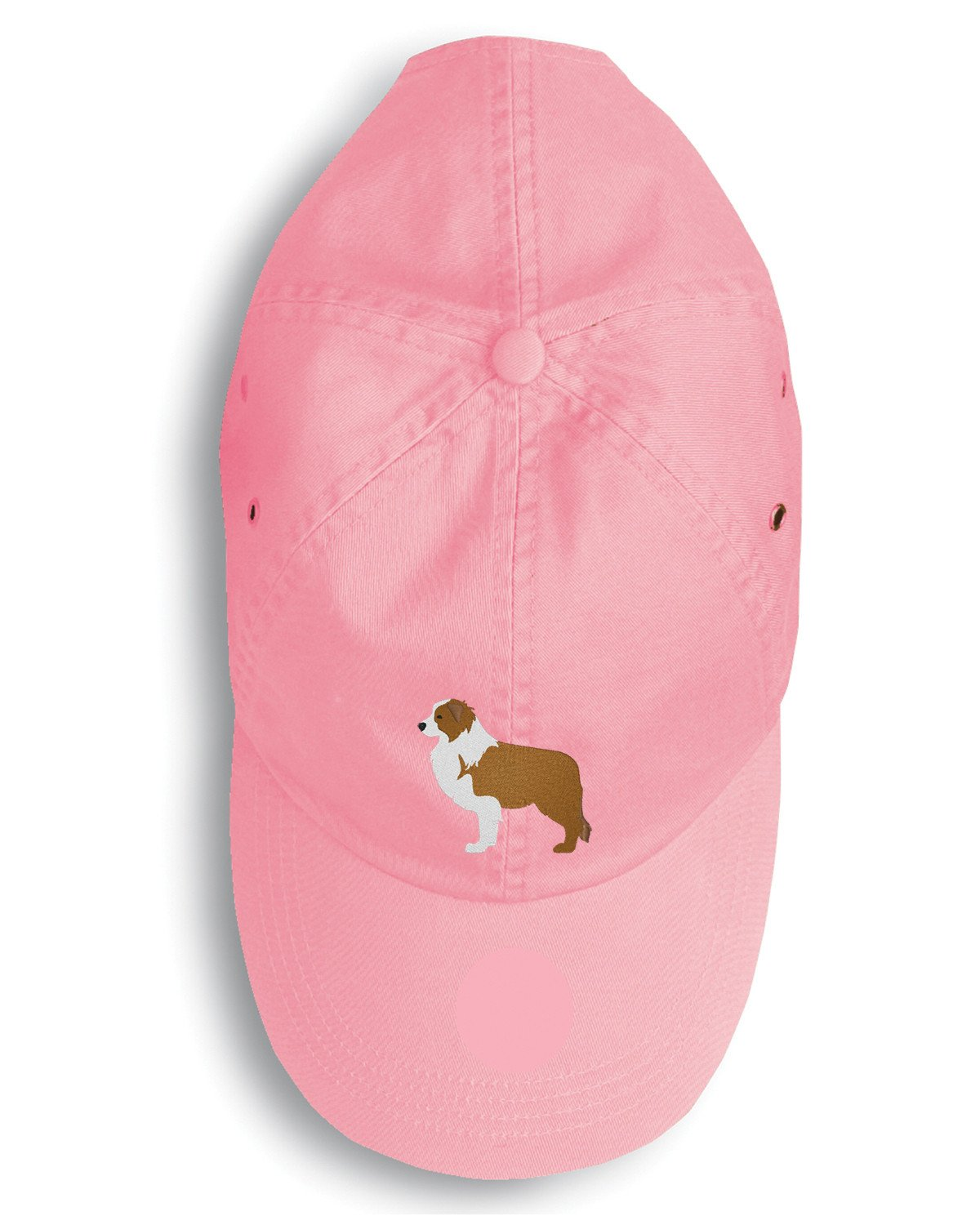 Red Border Collie Embroidered Baseball Cap BB3422PK-156 by Caroline's Treasures