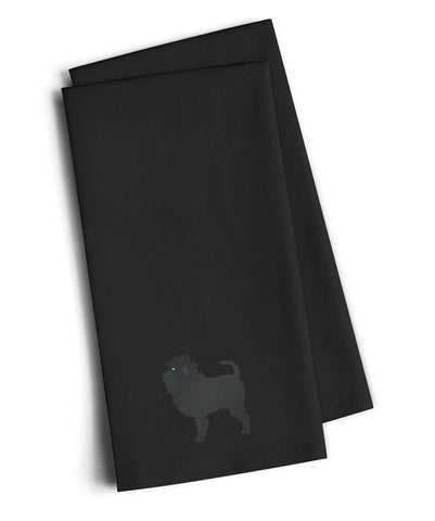 Buy this Affenpinscher Black Embroidered Kitchen Towel Set of 2 BB3448BKTWE