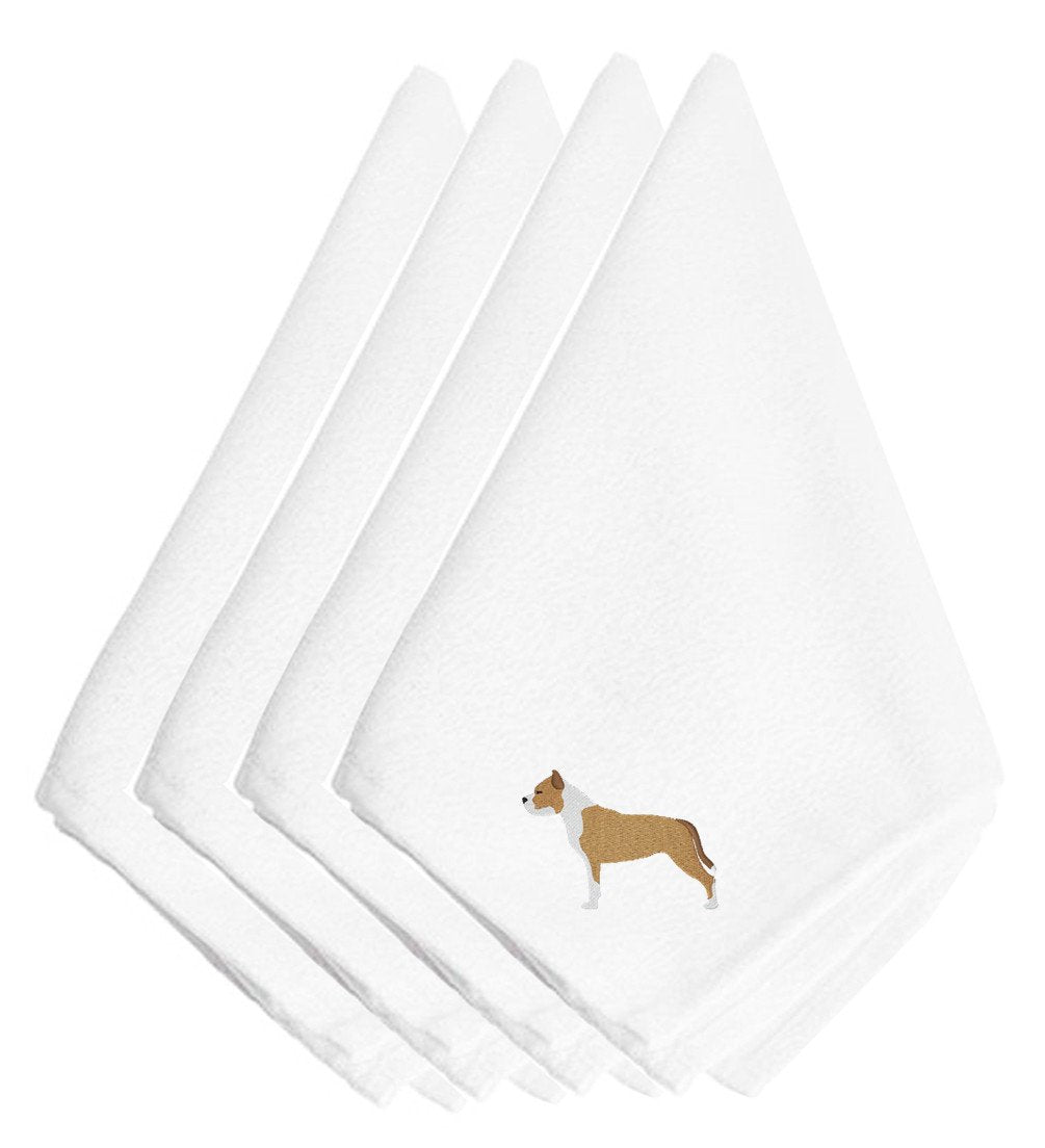 Staffordshire Bull Terrier Embroidered Napkins Set of 4 BB3454NPKE by Caroline's Treasures