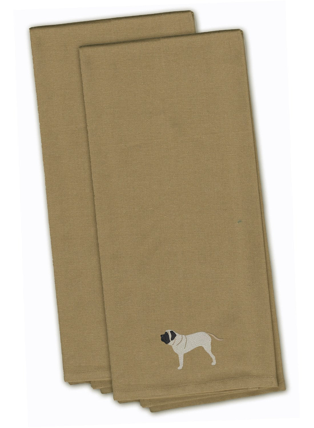 English Mastiff Tan Embroidered Kitchen Towel Set of 2 BB3456TNTWE by Caroline's Treasures