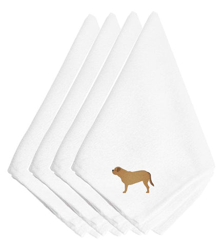 Buy this Dogue de Bordeaux Embroidered Napkins Set of 4 BB3470NPKE