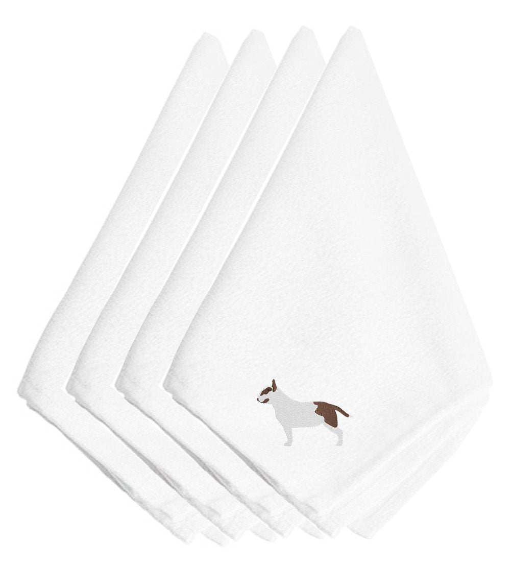 Bull Terrier Embroidered Napkins Set of 4 BB3478NPKE by Caroline's Treasures