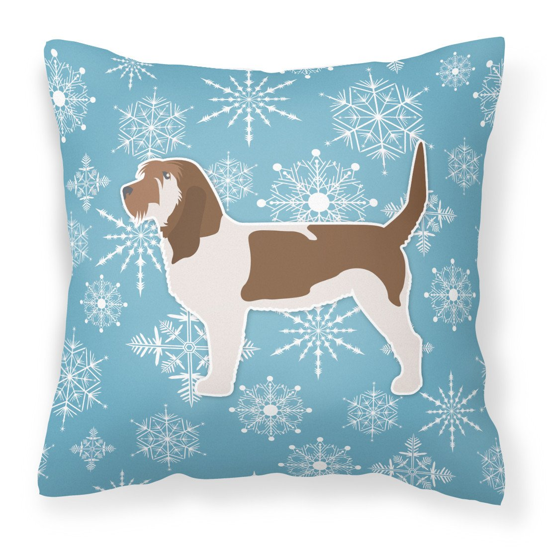 Winter Snowflake Grand Basset Griffon Vendeen Fabric Decorative Pillow BB3490PW1818 by Caroline's Treasures