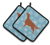 Winter Snowflake Irish Setter Pair of Pot Holders BB3493PTHD by Caroline's Treasures