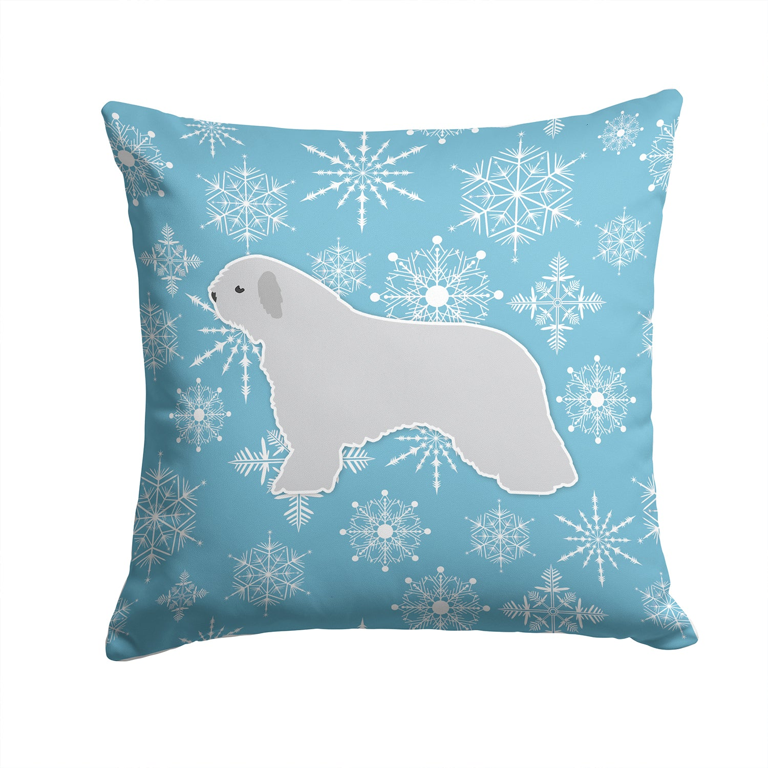Winter Snowflake Spanish Water Dog Fabric Decorative Pillow BB3515PW1414 by Caroline's Treasures