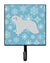 Winter Snowflake Spanish Water Dog Leash or Key Holder BB3515SH4 by Caroline's Treasures