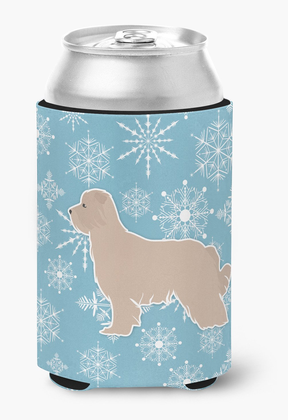 Winter Snowflake Pyrenean Shepherd Can or Bottle Hugger BB3518CC by Caroline's Treasures