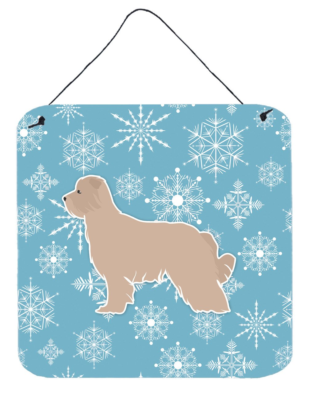 Buy this Winter Snowflake Pyrenean Shepherd Wall or Door Hanging Prints BB3518DS66