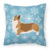 Winter Snowflake Corgi Fabric Decorative Pillow BB3520PW1818 by Caroline's Treasures