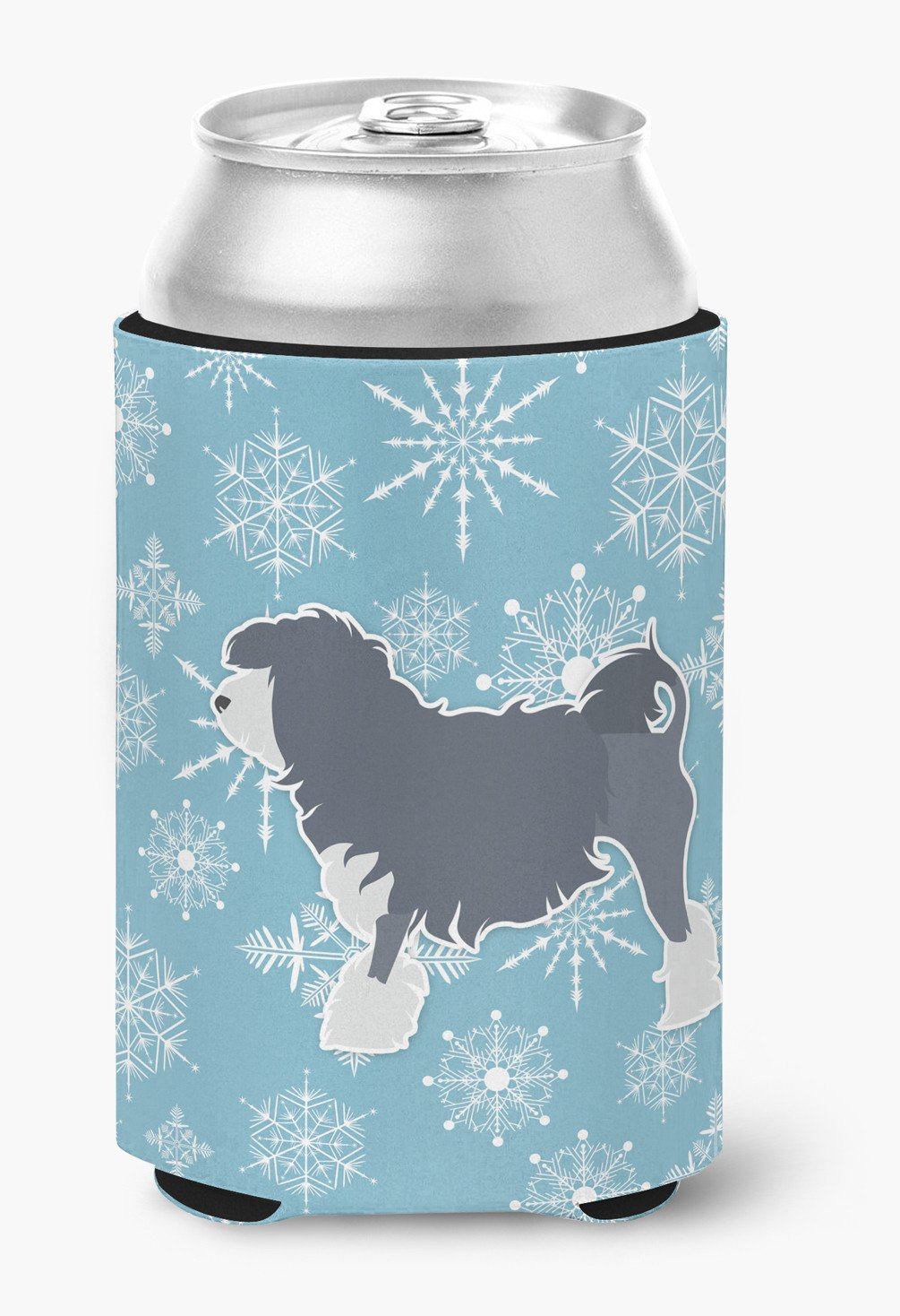 Winter Snowflake Lowchen Can or Bottle Hugger BB3535CC by Caroline's Treasures