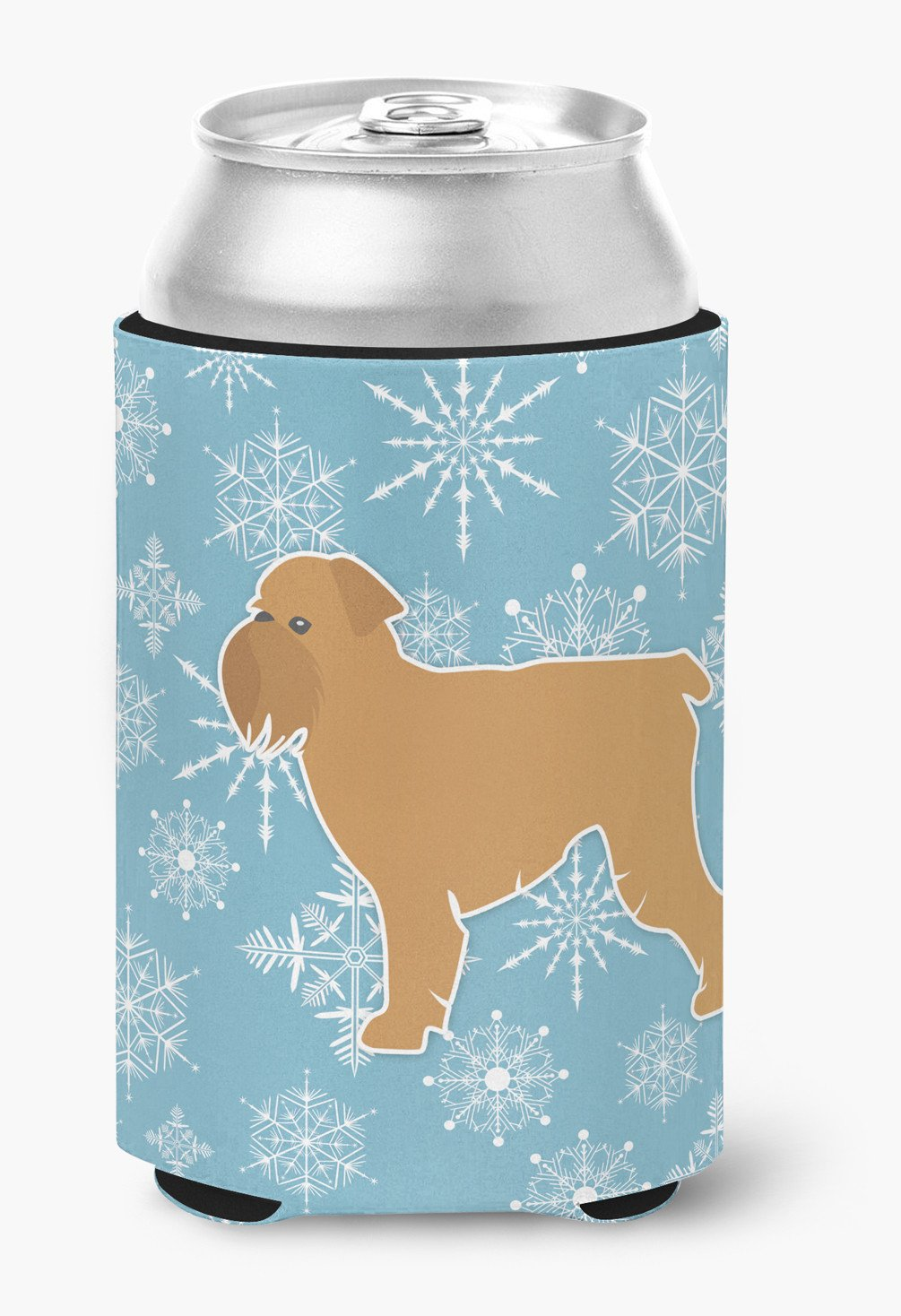 Winter Snowflake Brussels Griffon Can or Bottle Hugger BB3540CC by Caroline's Treasures