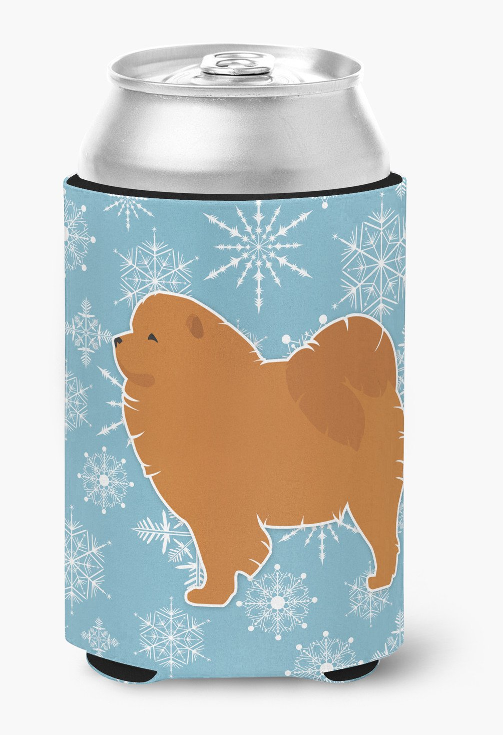 Winter Snowflake Chow Chow Can or Bottle Hugger BB3551CC by Caroline's Treasures