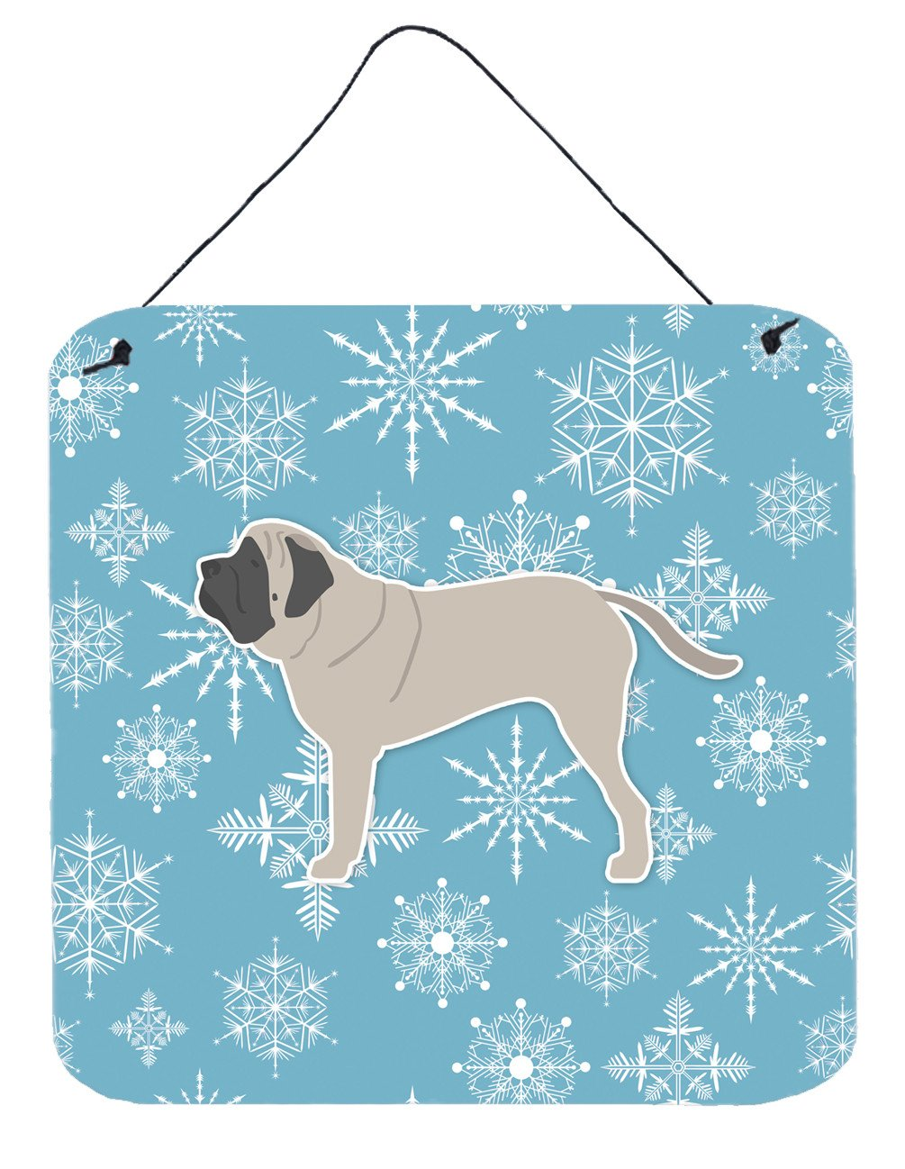 Winter Snowflake English Mastiff Wall or Door Hanging Prints BB3556DS66 by Caroline's Treasures
