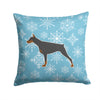 Winter Snowflake Doberman Pinscher Fabric Decorative Pillow BB3560PW1414 by Caroline's Treasures