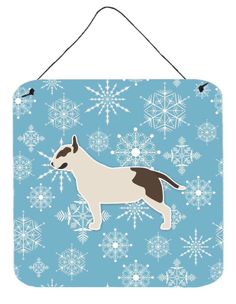 Buy this Winter Snowflake Bull Terrier Wall or Door Hanging Prints BB3578DS66