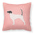 English Pointer Checkerboard Pink Fabric Decorative Pillow BB3595PW1818 by Caroline's Treasures