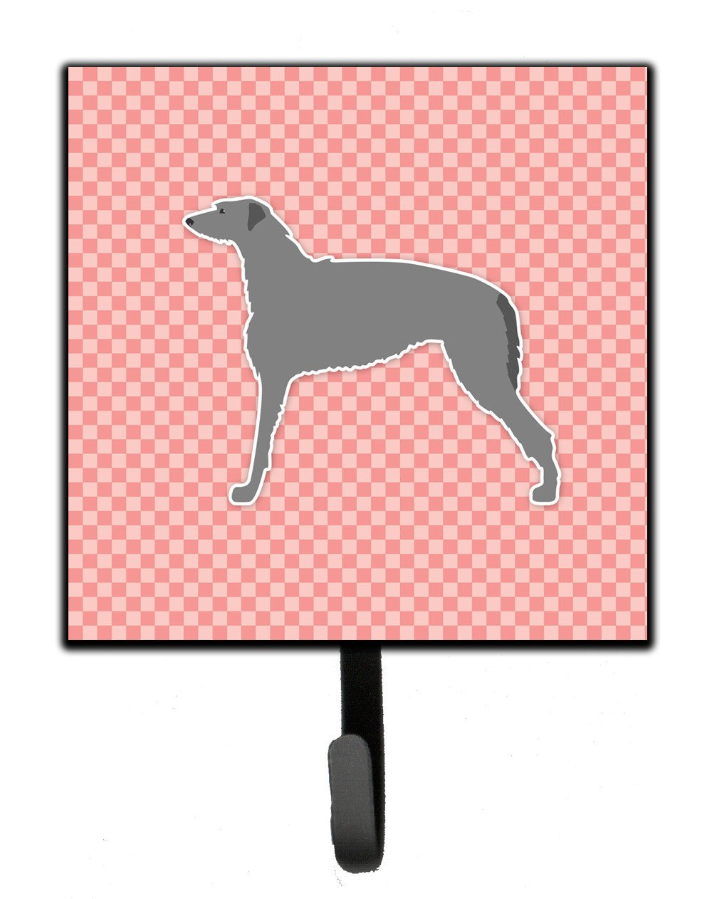 Scottish Deerhound Checkerboard Pink Leash or Key Holder BB3596SH4 by Caroline's Treasures