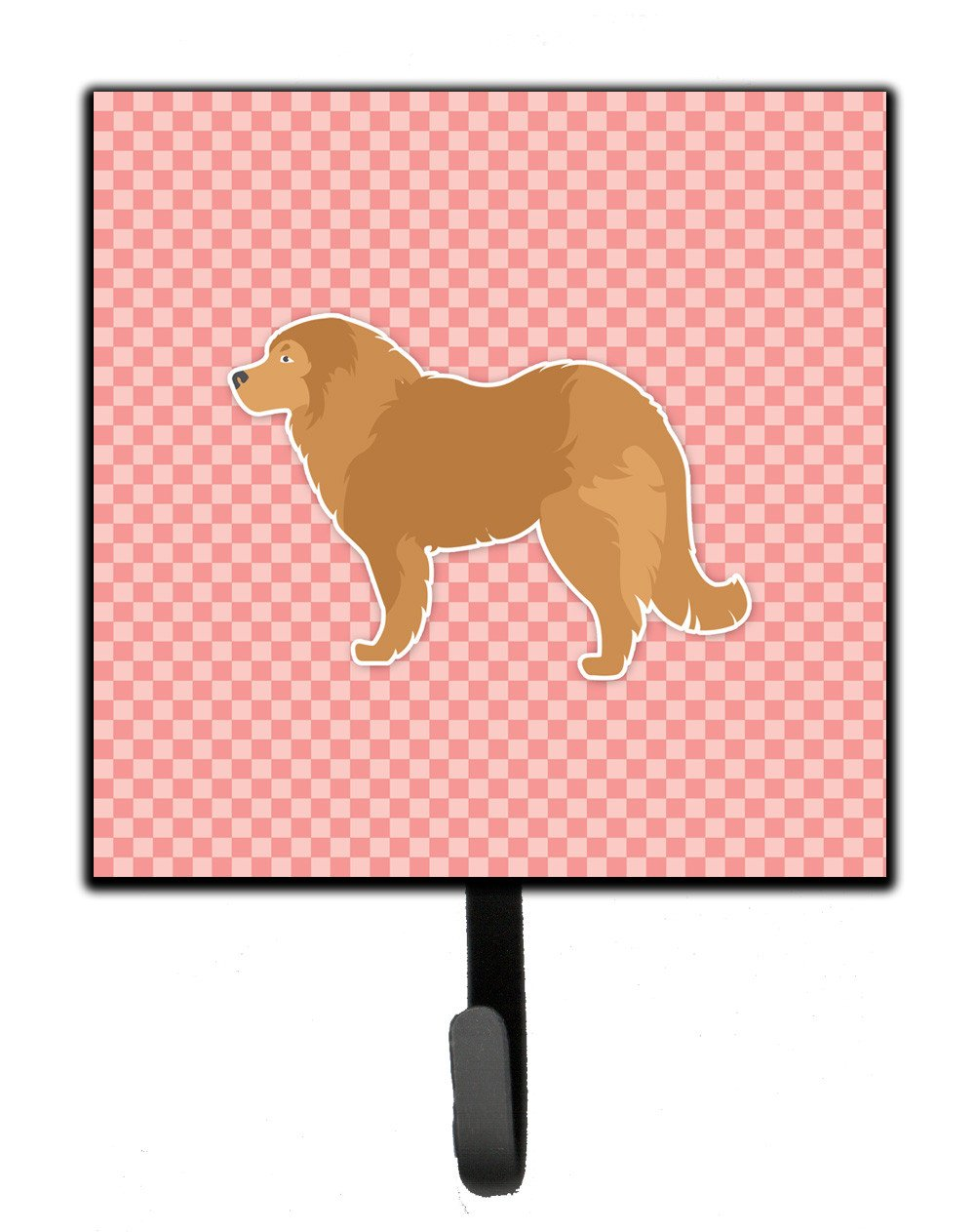 Caucasian Shepherd Dog Checkerboard Pink Leash or Key Holder BB3625SH4 by Caroline's Treasures