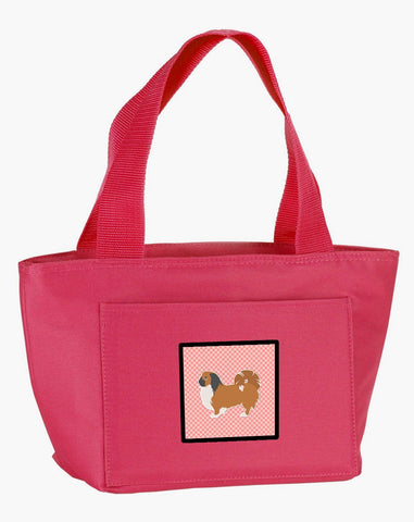 Buy this Pekingese Checkerboard Pink Lunch Bag BB3638PK-8808