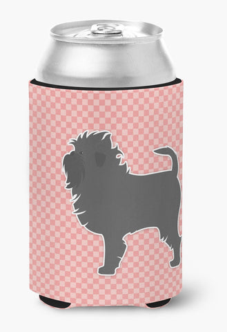 Buy this Affenpinscher Checkerboard Pink Can or Bottle Hugger BB3648CC